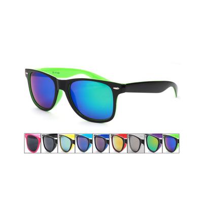 Lunettes de Soleil Fashion Wayfarer avec Intérieur Monture Coloré