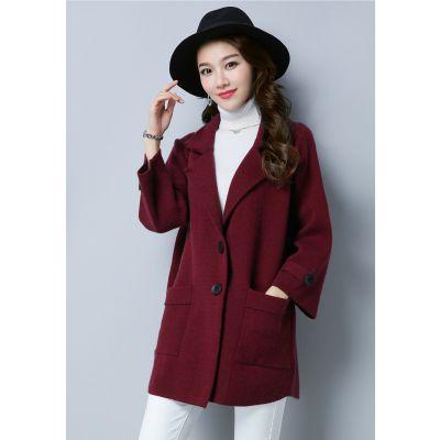 Manteau Caban pour femme avec grandes poches côté et 2 boutons