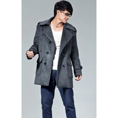 Manteau Duffle pour Homme Double Boutonnage et Poches Larges