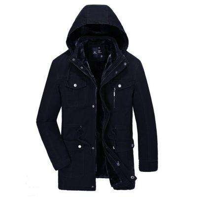 Manteau Hiver à Capuche avec Interieur Fourrure pour Homme