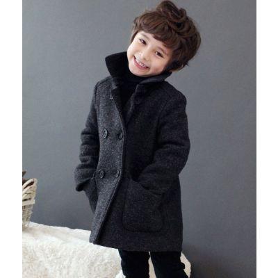 Manteau hiver double boutonnage pour garçon en laine hiver