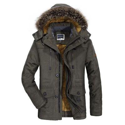 Manteau Hiver Matelassé pour Homme avec capuche à fourrure et doublure fourrée