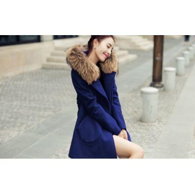 Manteau hiver pour femme tendance avec capuche fourrure