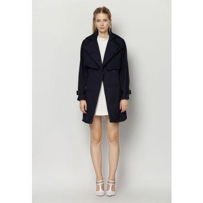 Manteau Imperméable Mi Long Femme avec Manches Amovibles