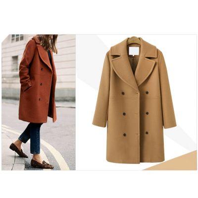 Manteau long en laine pour femme