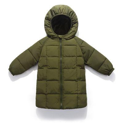 Manteau long hiver parka pour enfant avec capuche