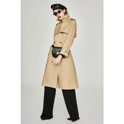 Manteau Trench long classique pour femme imperméable