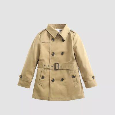 Manteau trench pour enfant avec poches avant