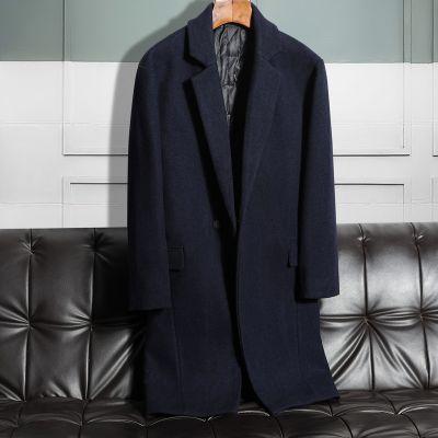 Manteau long classique en laine pour homme