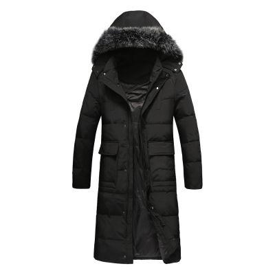 Manteau matelassé long pour homme