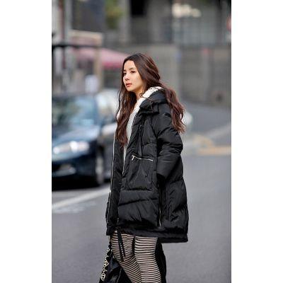 Manteau matelassé pour femme avec capuche lignée fourrure