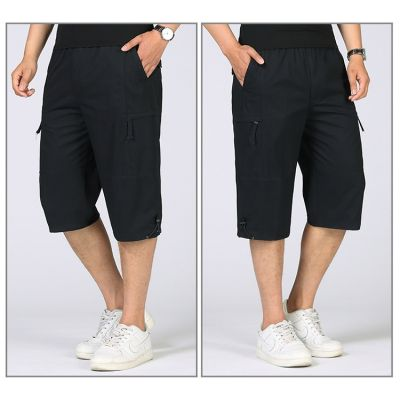 Pantacourt slim pour homme avec poches côtés zippées