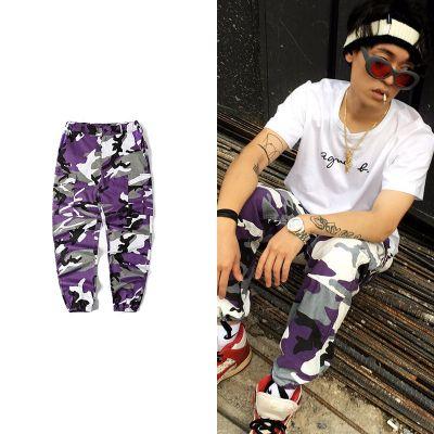 Pantalon cargo toile camouflage coloré pour homme ou femme