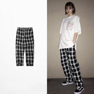Pantalon Chill à Carreaux en Coton Taille Elastique