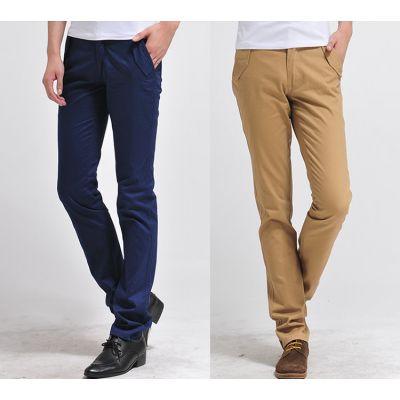 Pantalon Chino Slim Fashion pour Homme en Coton