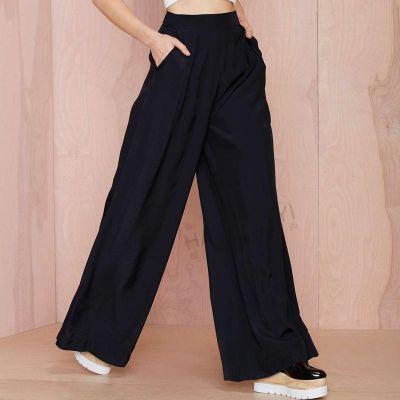 Pantalon Coupe Large pour Femme avec Taille Elastique