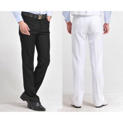Pantalon de Costume Classique Homme Slim Business Casual