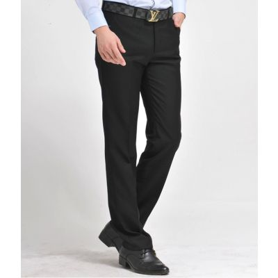 Pantalon de Costume Classique Homme Slim Business Casual