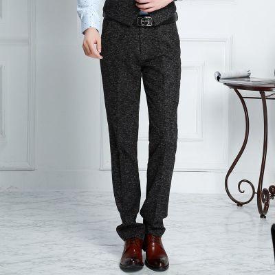 Pantalon de costume en tweed pour homme effet sel et poivre vintage