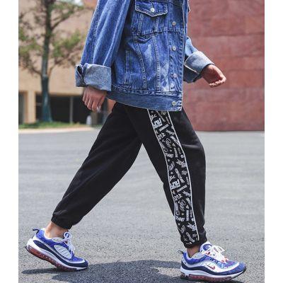 Pantalon de jogging avec bandes côté graphiques bas de survêtement pour homme