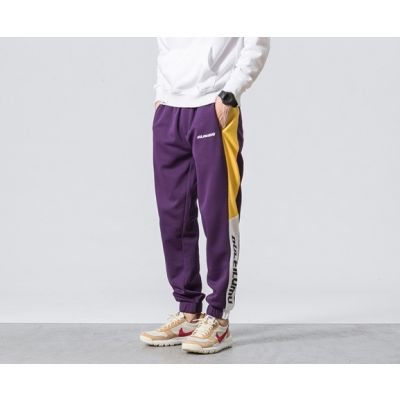 Pantalon de jogging survêtement pour homme avec blocs contrastants