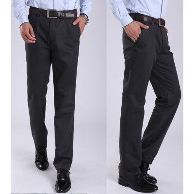 Pantalon en coton pour homme avec doublure intérieure fourrure