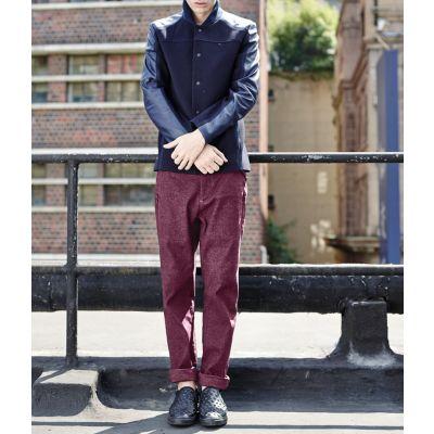Pantalon en coton pour Homme Coupe Droite Slim Effet Vintage