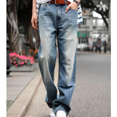 Pantalon Jeans Baggy Homme Délavé Stone Wash
