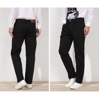 Pantalon Jeans pour Homme Coupe Droite Noir Denim
