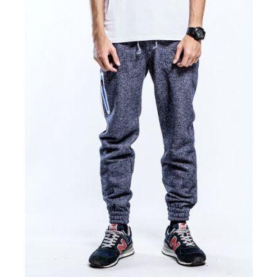 Pantalon Joggers Survêtement Homme avec Poche Zippée Côté