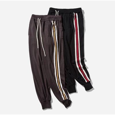 Pantalon jogging pour homme avec triple bande couleur contrastante