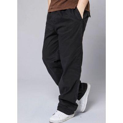 Pantalon Large en Toile Homme Coupe Baggy Poches Côté