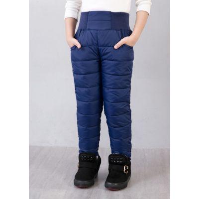 Pantalon matelassé anti-pluie hiver pour enfant avec ceinture élastique