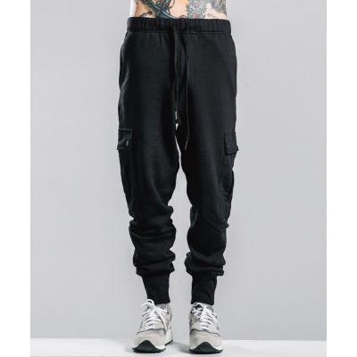 Pantalon survêtement sport joggers cargo avec poches côté et chevilles resserrées