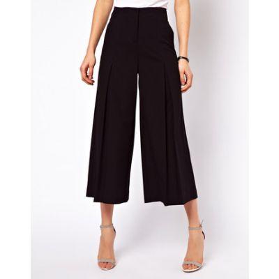 Pantalon Trois Quart pour Femme Coupe Large Flottante