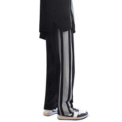 Pantalon jogging homme à bandes verticales larges