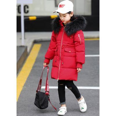Parka avec col fourrure pour fille enfant manteau hiver garni