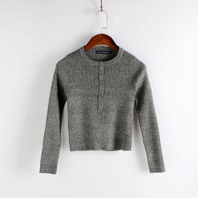 Petit pull court tricot cotelé femme