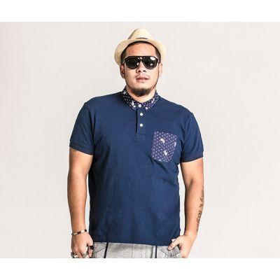 Polo Grande Taille pour homme avec poche motif Gouttelettes Paisley
