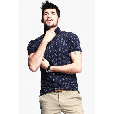 Polo manches courtes pour homme avec motif à pois slim
