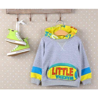 Sweatshirt à Capuche Enfant avec Poche Ventrale à Zip Fermeture Eclaire