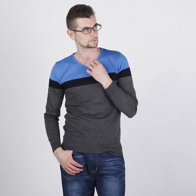Pullover pour Homme avec Couleur Epaules et Bande Intermédiaire