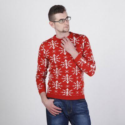 Pullover pour Homme Hiver Fashion avec Gros Flocons de Neige