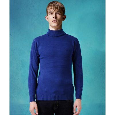 Pullover à col roulé pour homme slim tendance hiver