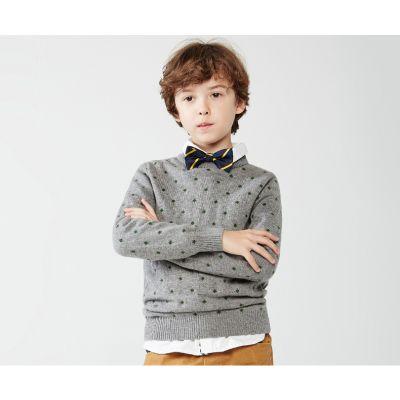 Pullover à pois hiver pour garçon enfant en laine