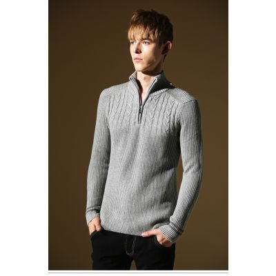 Pullover Col Rond pour Homme avec Rayures Noires