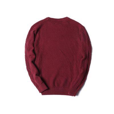 Pullover en laine tricotée épais pour homme avec torsade fantaisie