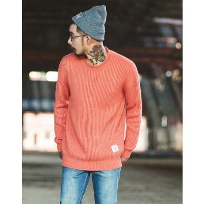 Pullover oversize en tricot pour homme avec maillage large