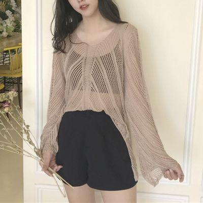 Pullover tricot knitwear pour femme avec manches évasées