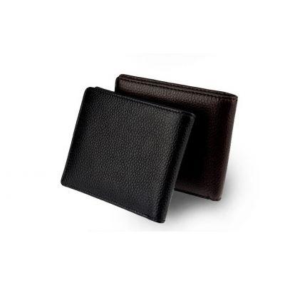 Porte feuille classique cuir de vachette pour homme - noir marron